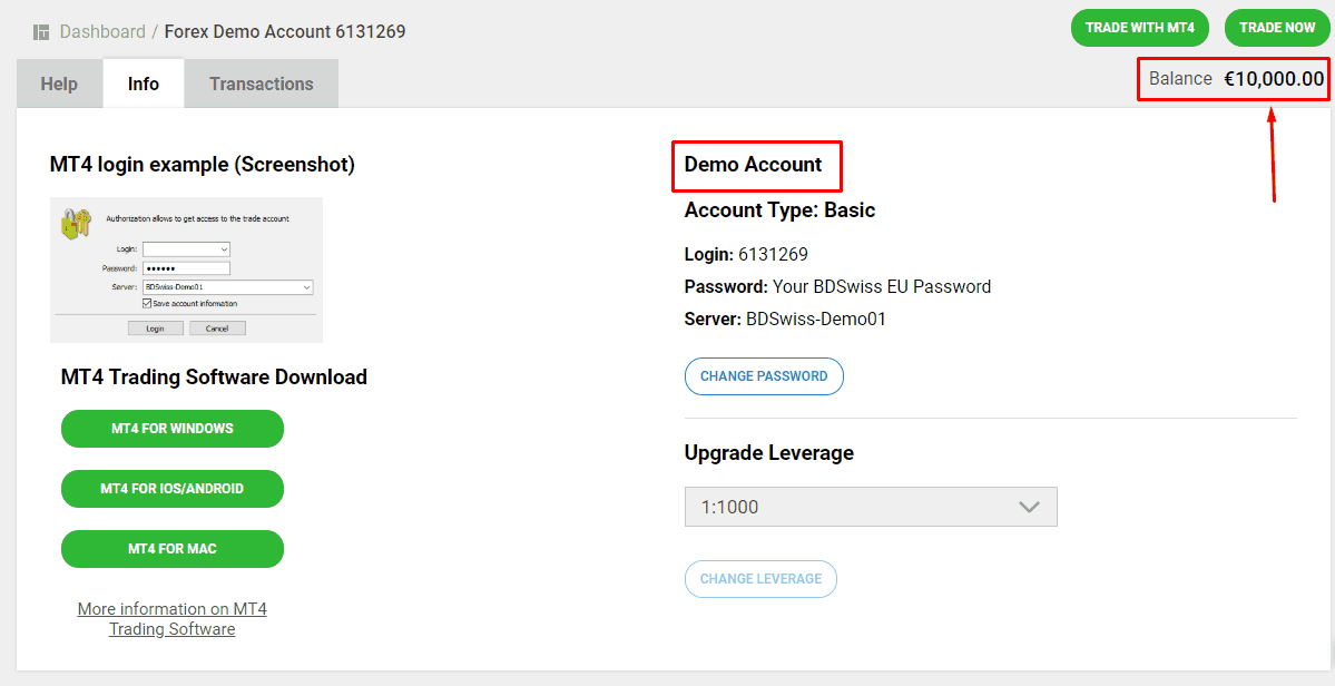 bdswiss demo account