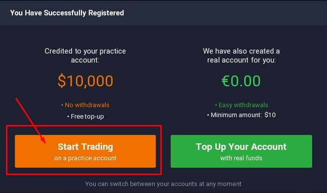 Options trading free practice account