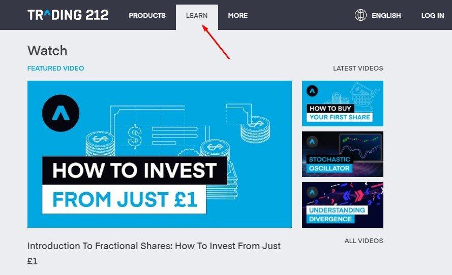 trading 212 education